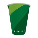 copo de papel verde