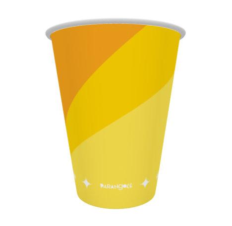 copo de papel amarelo