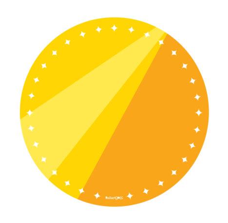 prato de papel amarelo