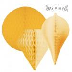 Kit de Enfeite de Papel de Seda Amarelo