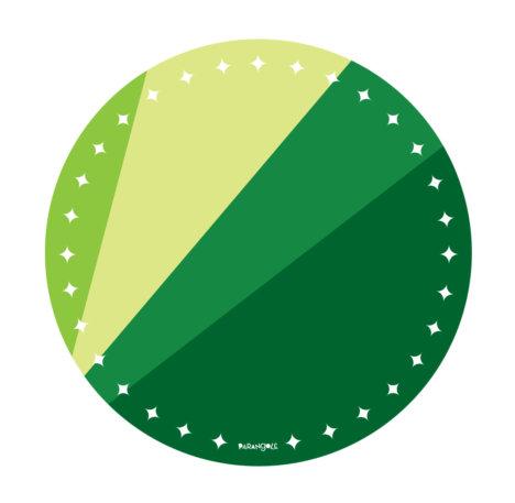 prato de papel verde 1