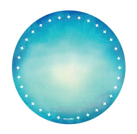 prato de papel azul turquesa 1