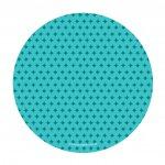 prato de papel azul turquesa