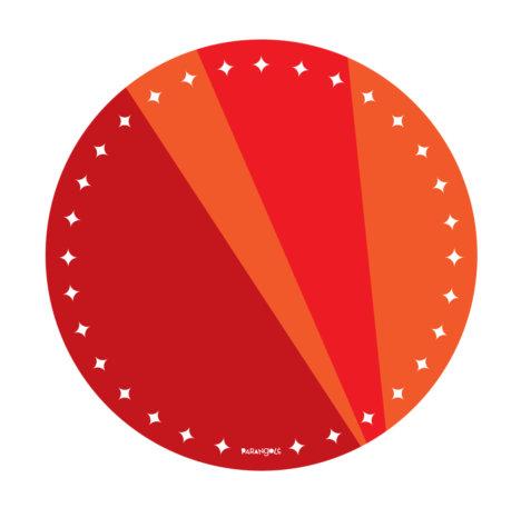 prato de papel vermelho 1