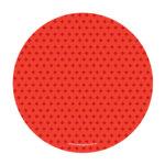 prato de papel vermelho
