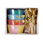 KIT CUPCAKES HAPPY BIRTHDAY