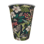 Copo de Papel Tropical Flores
